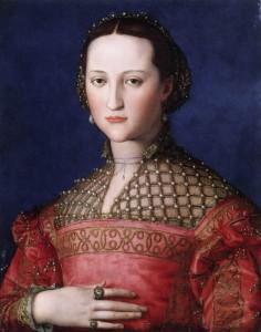 Figure 1 Petticoat worn with detachable sleeves.  Angelo Bronzino, Eleonora of Toldeo, c, 1543. Prague, Narondni Galerie.