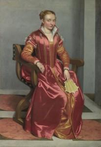 Figure 3 Golden sottana under red veste. Giovani Batista Moroni, Lady in Red, c. 1556-60, National Gallery, London
