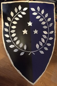 Finished shield front
